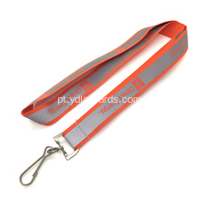 20mm Orange Reflective Type Lanyards personalizados